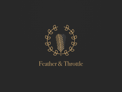 Feather & Throttle Branding identity logo branding
