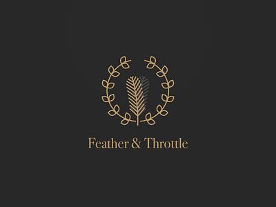 Feather & Throttle Branding identity logo branding