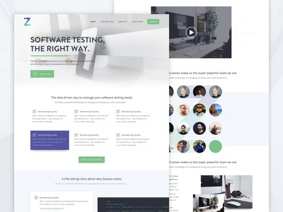 Zoonou Website wordpress ux testing software ui marketing-site site website