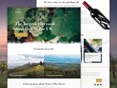 Vineyard Directory web development web design wine vineyard