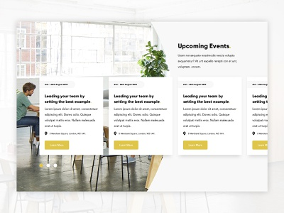 Event Listing - WIP ui design website