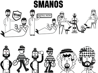 samanos character design saudi arabia illustrator design outline sketch artboard art direction branding business character artwork character design illustration arabian