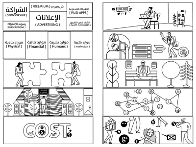 business storyboard character artwork character design illustration
