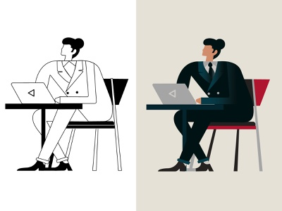business ch  01 art direction color palette artboard illustration artwork design illustrator business character character design