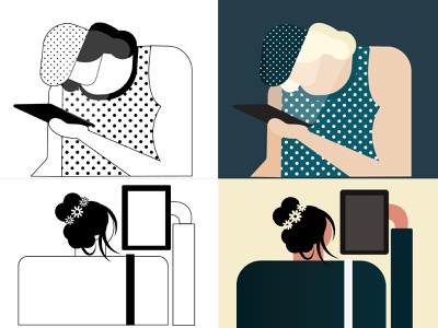 business ch  02 artwork artboard branding business art direction illustration color palette design character character design