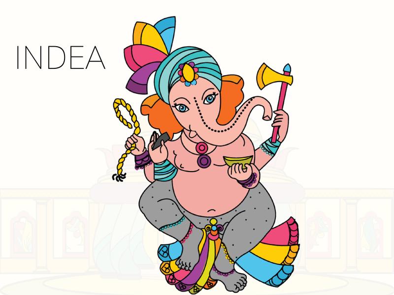 INDEA-GANESHA ganesha india designer color palette illustrator art art direction artwork colorful design character design illustration