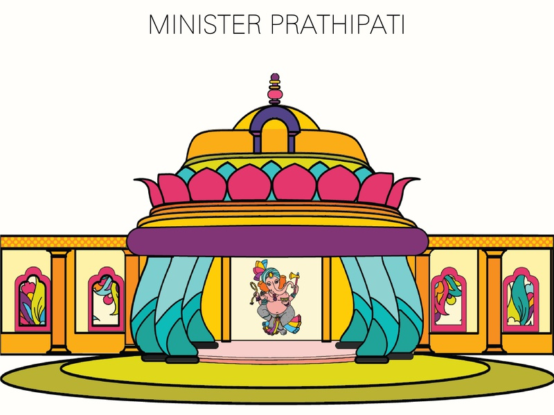 INDIA-MINISTER PRATHIPATI flatart artboard india colorful illustrator design color palette art direction artwork illustration
