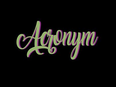 Acronym: Abbreviations illustration typography flat logo branding