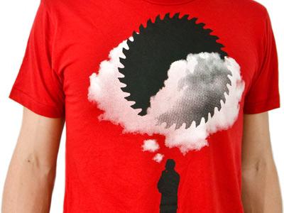 Bad Idea dobi fullbleed saw blade idea red shirt