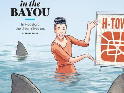 Houstonia rob dobi editorial editorial illustration