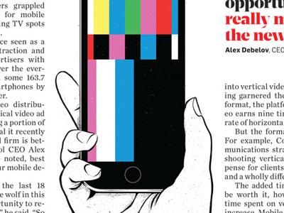 Adweek - Vertical Video adweek snapchat editorial illustration