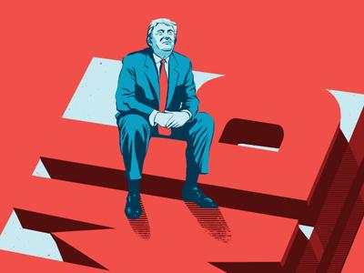Cleveland Magazine - Trump rob dobi donald trump cleveland magazine editorial illustration trump