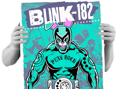 Blink-182 poster, now available!
