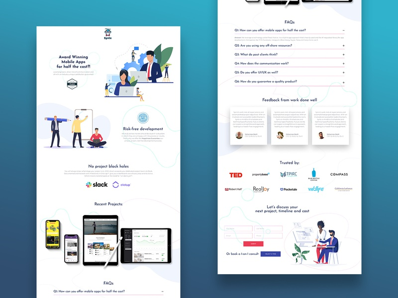 Syntx Product Landing Page