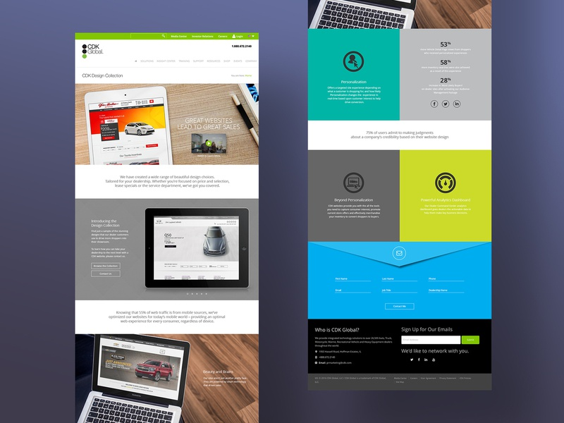 CDK Product Landing Page