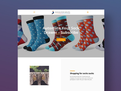 Socks for Gents ecommerce