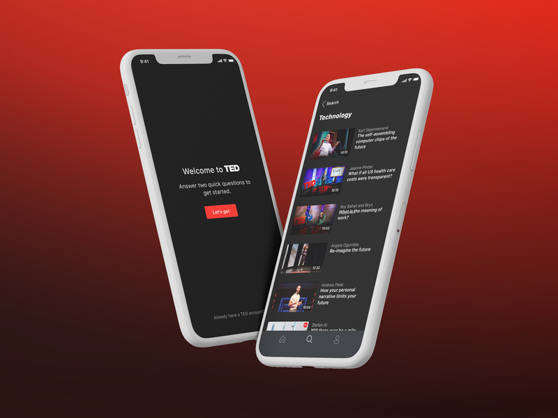 TED Conferences mobile application experience