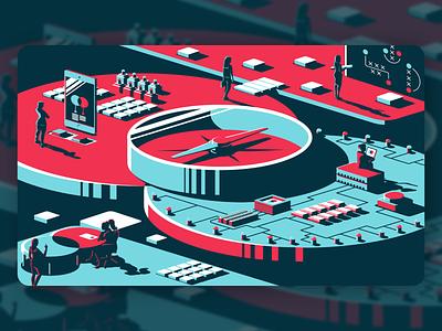 Navigating Partnerships district north design illustration vector design branding new hampshire