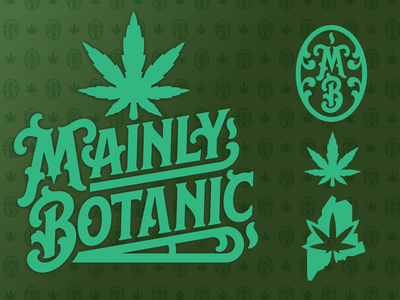 Mainly Botanic Concept 1 calligraphy vector branding type logo weeds brand weed new hampshire