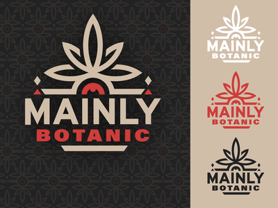 Mainly Botanic Concept 2 design vector branding typography district north design