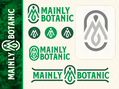 Mainly Botanic Concept district north design design vector branding maine new hampshire