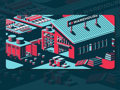 Data warehouse ui district north design nick beaulieu illustration design vector branding new hampshire