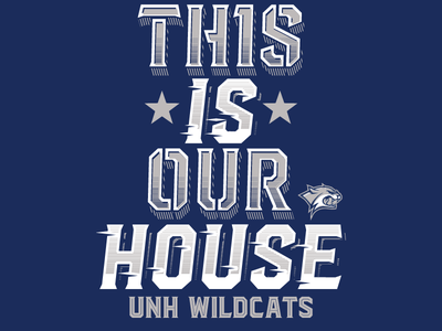 Unh Wildcats type typography custome type