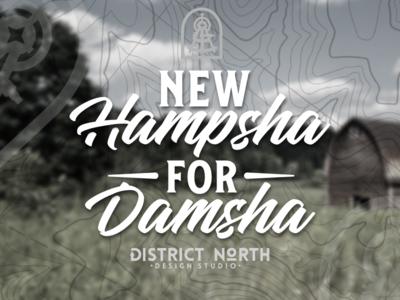 New Hampsha for Damsha nh barn typography type bethlehem nick beaulieu http:www.districtnorthdesign.com new hampshire district north design