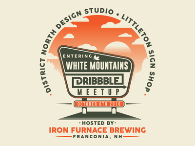 Dribbble Meetup in Franconia NH process video districtnorthdesign white mountains graphic design new hampshire nh dibbblemeetup