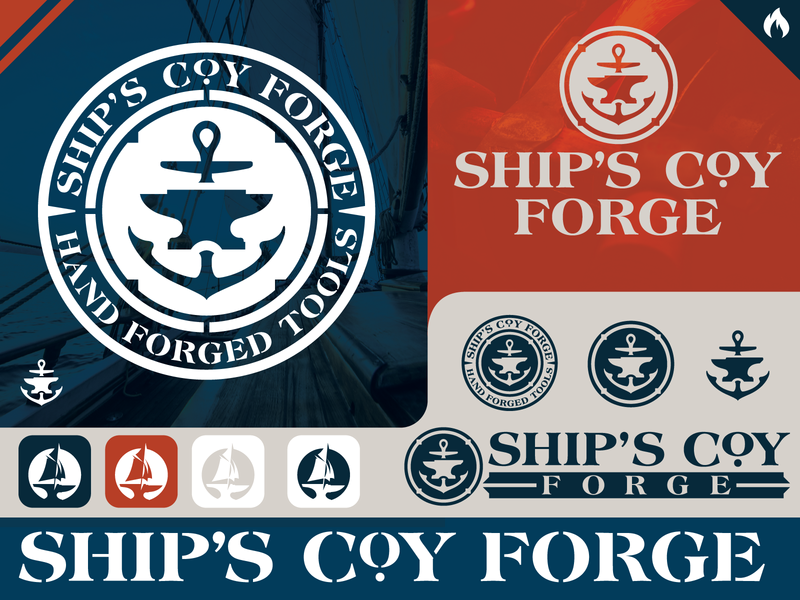 Ships Coy Forge vector custom vintage branding font logo type typography nick beaulieu district north design http:www.districtnorthdesign.com new hampshire