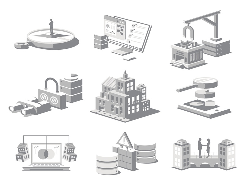 Grayscale Icons website icon web app ui ux vector illustration design district north design nick beaulieu http:www.districtnorthdesign.com new hampshire