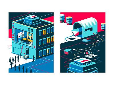 Poster Series A illustration app ux branding vector ui design