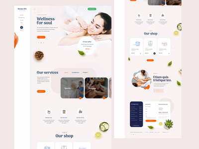 Spa WordPress Web Design Mockup with Online Reservation System beauty spa wordpress theme wordpress design wordpress ux ui designs designer design branding brand