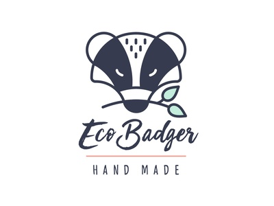 Eco Badger - logo brand identity branding shop ecology eco nature logo design logo