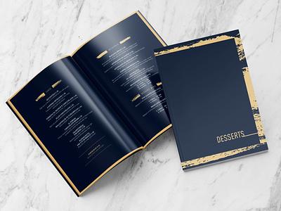 Dessert Menu gold foil dessert menu menu design