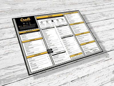 Crust Menu Design onepage print layout italian food italian restaurant pizzeria pizza menu menu design design