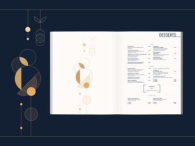 Il Forno Core Menu - Desserts vector illustration marketing brand design layout menu design menu branding restaurant design