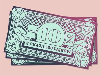 Promo for Social Media digital gradient graphic design 500 promotion promo bill design