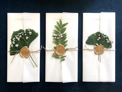 Wedding invitation - cover leaves nature boho wedding invitation wedding invitation invite design