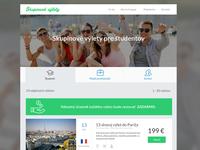 Travel page - destinations
