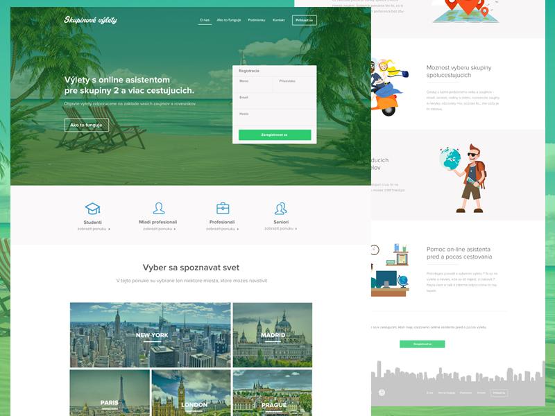 Travel landing page No.2 landing page clean flat webdesign web trip ui ux