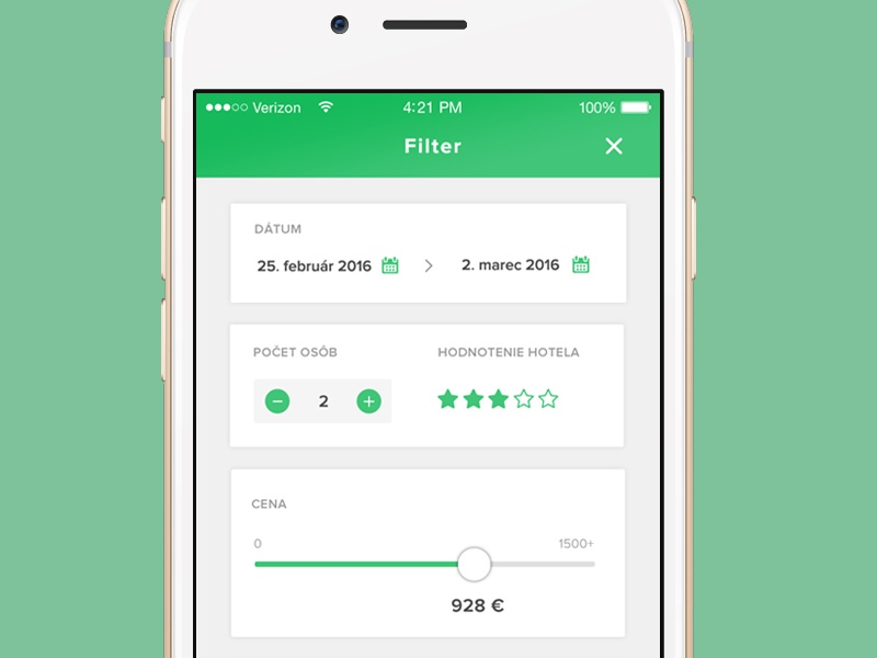 Search filter date price people stars search filter