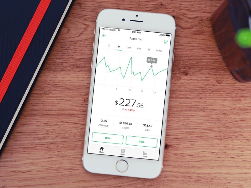 Stock app ux ui stocks stock mobile finance app