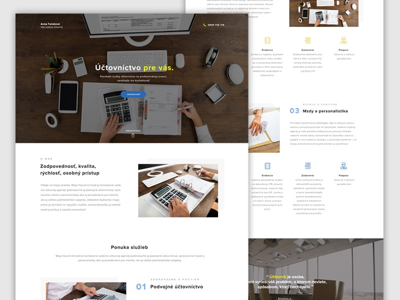 Accounting Landing page landing page ui ux clean account page webdesign web accounting