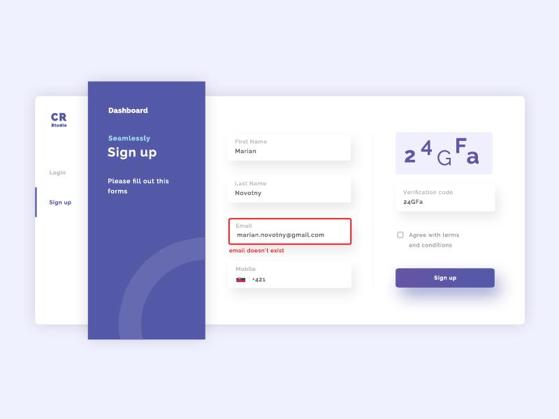 Sign up form sign up design clean web ui ux form