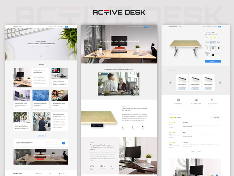 Activedesk landing page landing page table webdesign ux ui clean