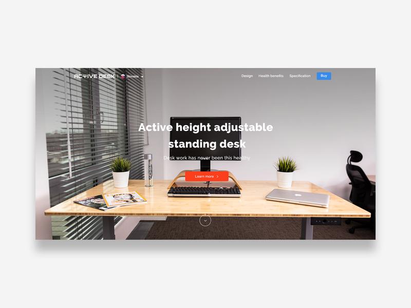Activedesk landing page web webdesign ux ui desk landing page clean