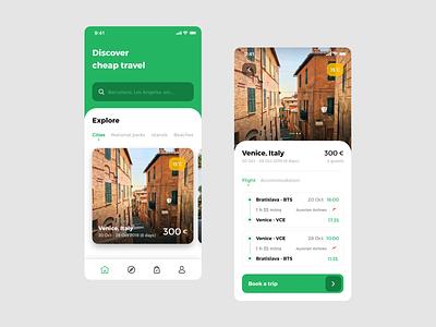Travel app travelling travel app mobile ui mobile app ux ui trip travel planning iphone x ios holiday destination app design design clean cards app