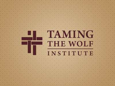 Taming The Wolf Institute Logo logo logo design pattern gold red identity branding