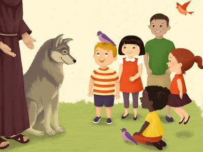 Non Profit Anti-Bully Poster anti-bully poster illustration kids wolf birds non profit